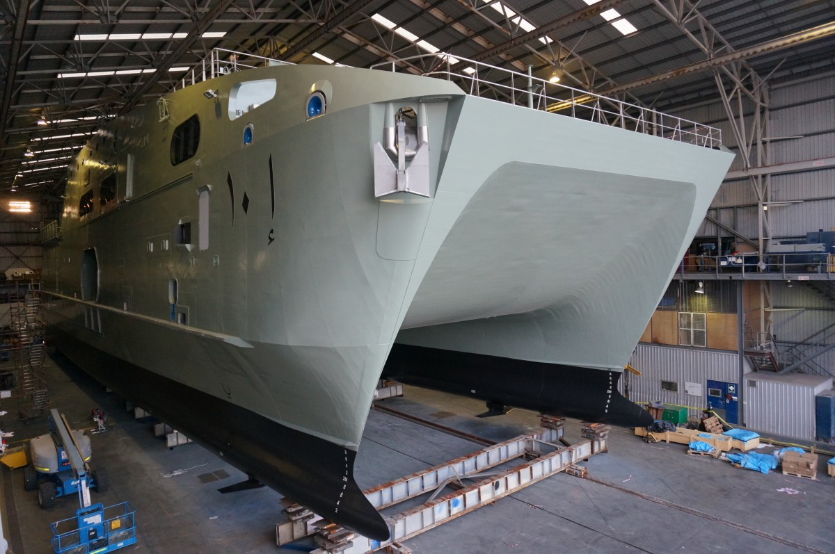 Rollout of High Speed Support Vessel