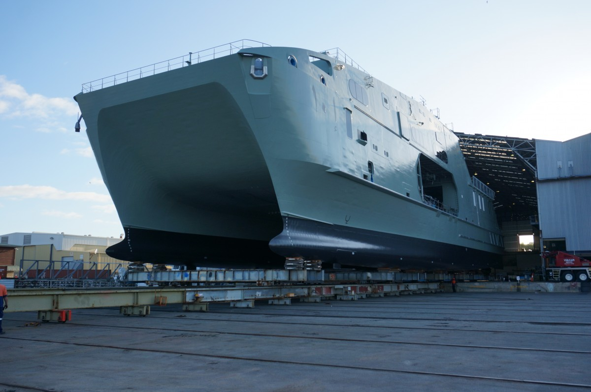 Rollout of 72m High Speed Support Vessel