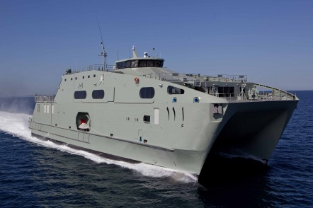 Sea Trials of the first of two 72m High Speed Support Vessel for the Royal Navy of Oman