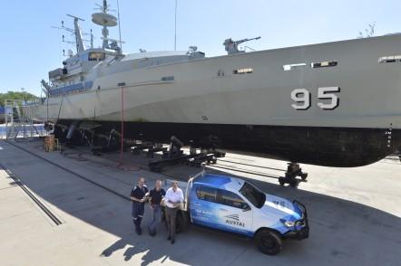 Armidale Class Patrol Boat at Austal Darwin's service facility