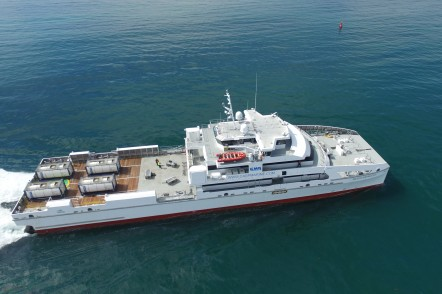 Rashid Behbudov - a 70m Large Crew Transfer Vessel for Caspian Marine Services of Azerbaijan