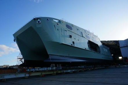 Roll-out of the first High Speed Support Vessel for the Royal Navy of Oman